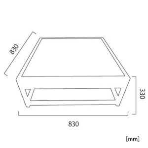 サルバドール テーブル サイズ