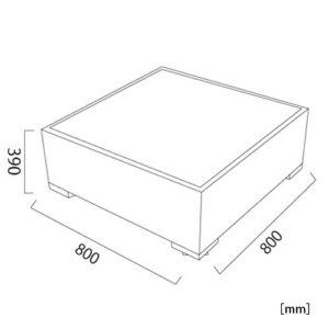 サンパウロ ガラステーブル サイズ
