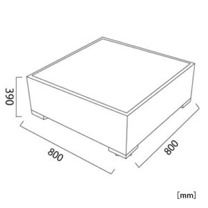 サンパウロ ウッドテーブル サイズ