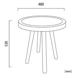 イパネマ サイドテーブル サイズ
