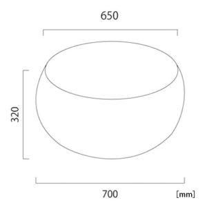 イパネマ テーブル サイズ