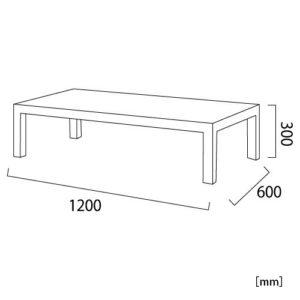パルマス ラウンジテーブル サイズ