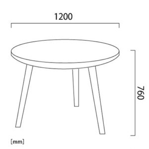 コルダラウンドダイニングテーブル サイズ