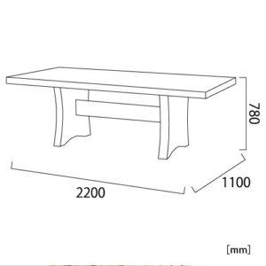 クアレンタ ビッグダイニングテーブル サイズ