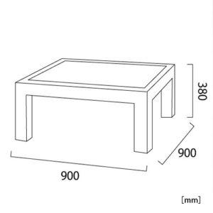 クアレンタ ローテーブル サイズ