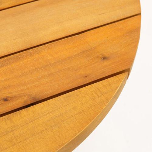 コルダ ラウンド サイドテーブル(アカシア)素材