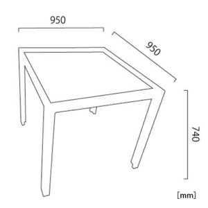 オリンダ ダイニングテーブル サイズ