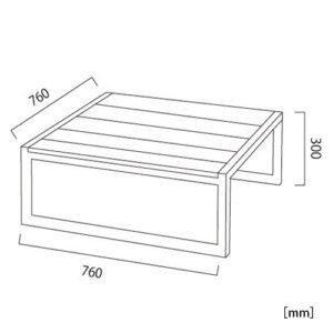 オリンダ テーブル(ファブリック)サイズ