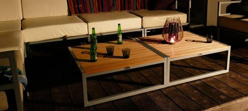 オリンダ テーブル(PVCレザー)イメージ
