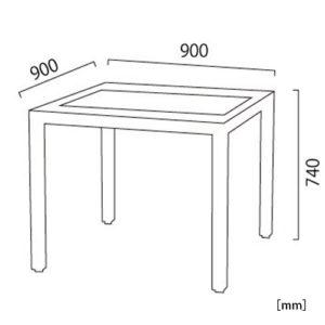 サンルイス ダイニングテーブル サイズ
