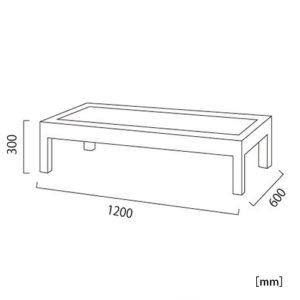 サンルイス ガラステーブル サイズ