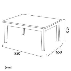 ヴィンチ テーブル サイズ